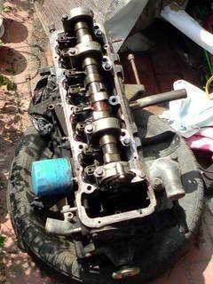 実家に放置されていたエンジン