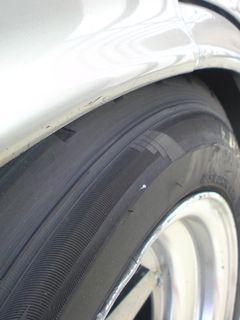 タイヤが…
