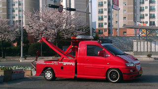 韓国のレッカー車