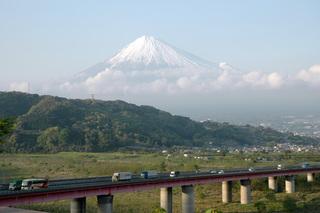 富士川SAからの富士山
