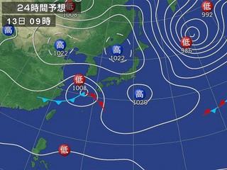 13日の予想天気図