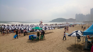 海雲台のビーチ