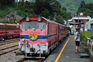 大井川鉄道にて
